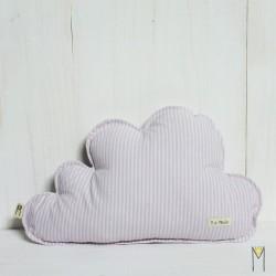 Cloud Pillow Pink Lines