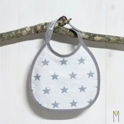 Babero Mini Grey Stars
