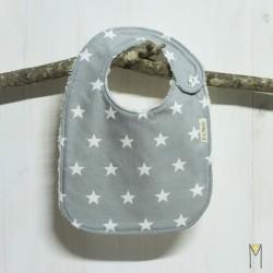 Babero White Stars de 6 a 12-18 meses