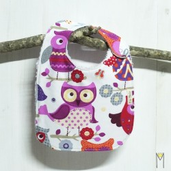Babero Purple Owls 6-12 meses