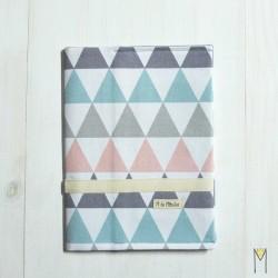 Portadocumentos Pastel Triangles