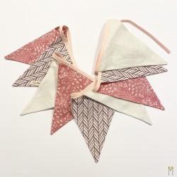 Banderines Flores rosa