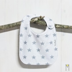 Babero Grey Stars 6-12 m