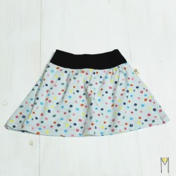 Falda topos de colores